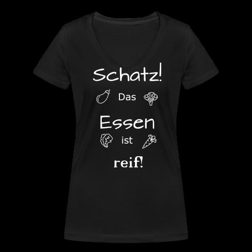 """Damen T-Shirt """"Essen ist reif"""" - Frauen Bio-T-Shirt mit V-Ausschnitt von Stanley & Stella"""