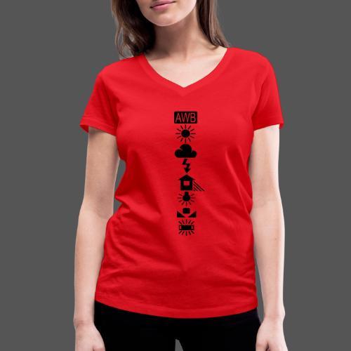 White Balance - Black / Front - Frauen Bio-T-Shirt mit V-Ausschnitt von Stanley & Stella