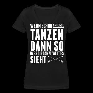 Scheiße Tanzen [w] - Frauen Bio-T-Shirt mit V-Ausschnitt von Stanley & Stella