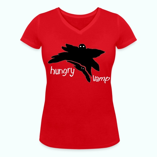 hungry vamp - Women's Organic V-Neck T-Shirt by Stanley & Stella
