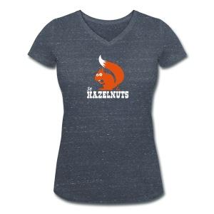 se Hazelnuts Frauen T-Shirt - Frauen Bio-T-Shirt mit V-Ausschnitt von Stanley & Stella