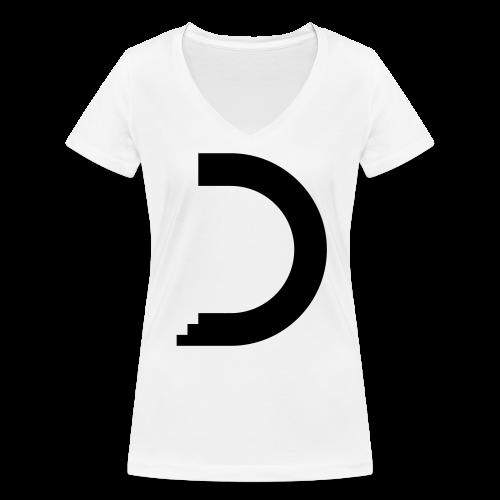 dreamshirt lady white - black - Frauen Bio-T-Shirt mit V-Ausschnitt von Stanley & Stella
