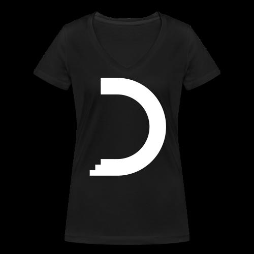 dreamshirt lady black - white - Frauen Bio-T-Shirt mit V-Ausschnitt von Stanley & Stella