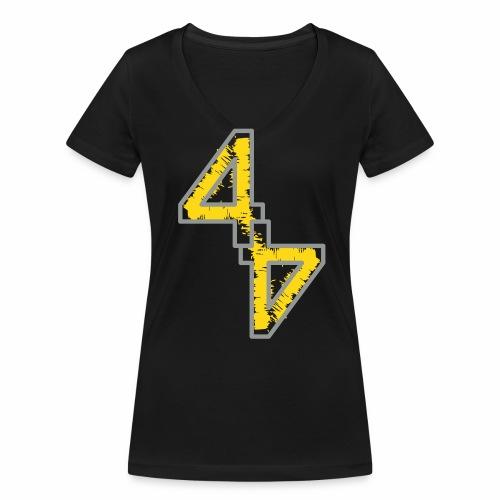 44 - Frauen T-Shirt - Flockdruck - Frauen Bio-T-Shirt mit V-Ausschnitt von Stanley & Stella