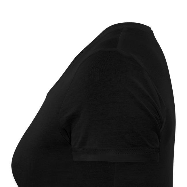 T-Shirt femme col V noir