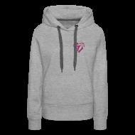 Hoodies & Sweatshirts ~ Women's Premium Hoodie ~ Cannabis Herz (rot/sparkle) Frauen Kaputzenpullover