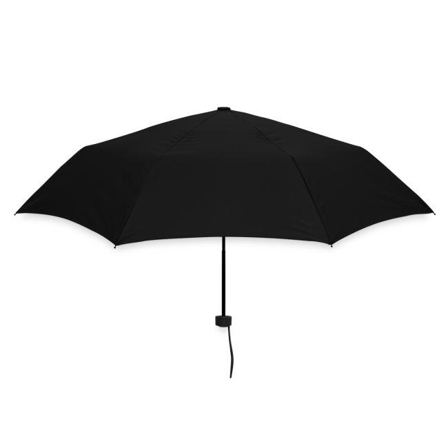 """Regenschirm Amalu Schrift """"AMALU""""."""