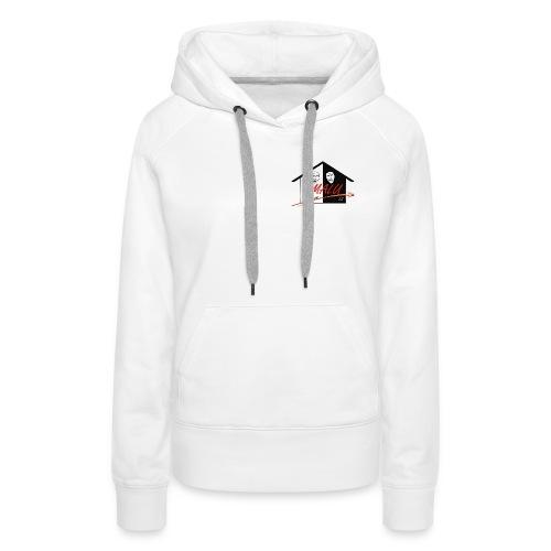 Sweatshirt Damen mit Amalu Logo und Schrift hinten (schwarz) - Frauen Premium Hoodie
