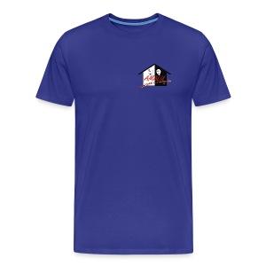 T-Shirt Herren mit Amalu Logo und Schrift hinten (schwarz) - Männer Premium T-Shirt