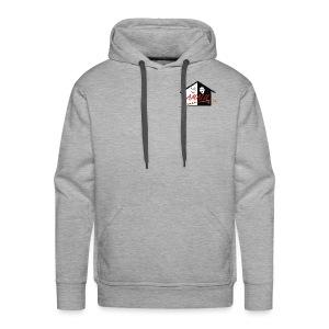 Hoodie Herren mit Amalu Logo und Schrift hinten (schwarz) - Männer Premium Hoodie