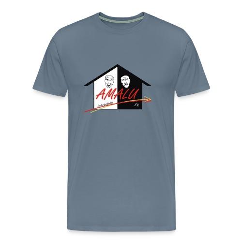 T-Shirt Herren mit großem Amalu Logo - Männer Premium T-Shirt