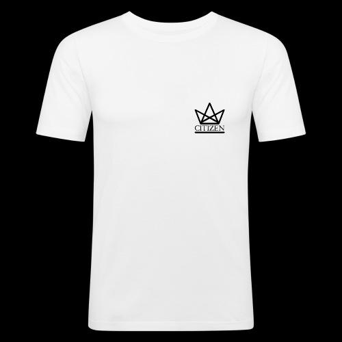 Citizen Logo Tee - White - Men's Slim Fit T-Shirt