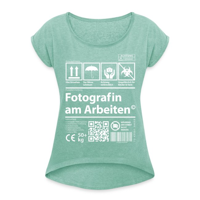 fotofreaks fotografin am arbeiten frauen t shirt mit. Black Bedroom Furniture Sets. Home Design Ideas