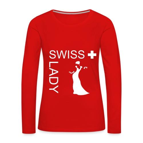 Swiss Lady - langärmliges T-Shirt - Frauen Premium Langarmshirt