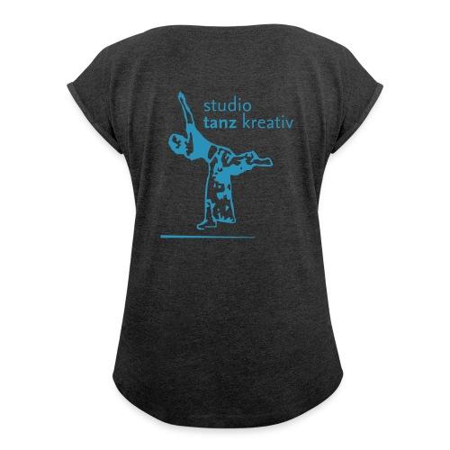 Shirt mit gerollten Ärmeln - Frauen T-Shirt mit gerollten Ärmeln