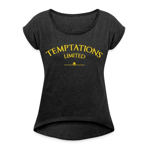 Temptations Boyfriend with back print - Women's T-Shirt with rolled up sleeves