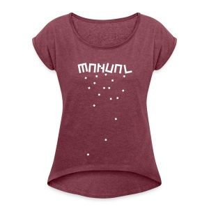 Manual 'Blocks' T-Shirt Female - Women's T-shirt with rolled up sleeves