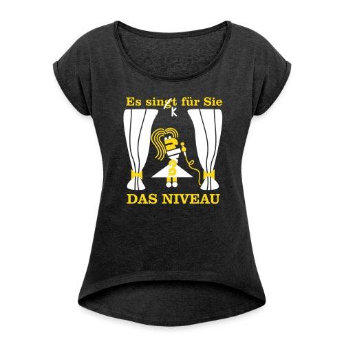 Niveau - Frauen T-Shirt mit gerollten Ärmeln