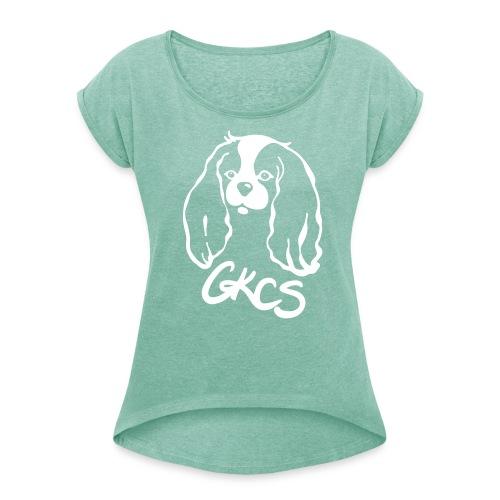 CKCS Damen - Frauen T-Shirt mit gerollten Ärmeln