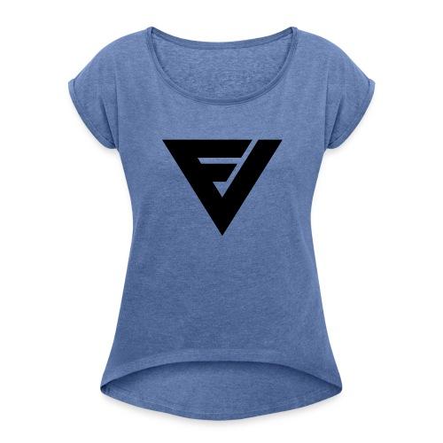 FV Lady t-paita, rullatut hihat 2 (samettipainatus) - Naisten T-paita, jossa rullatut hihat