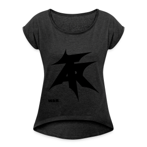 War - Women's T-shirt with rolled up sleeves