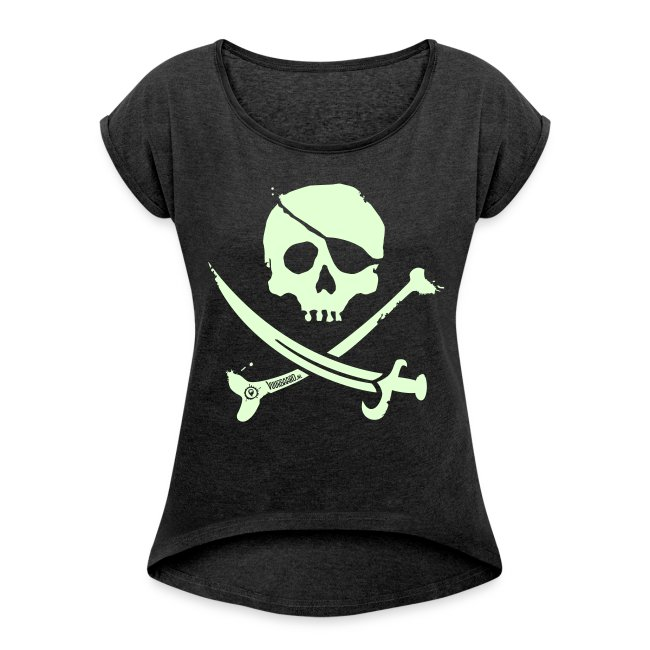 Pirate Crew - Women's Shirt (White print, glows green in the dark)