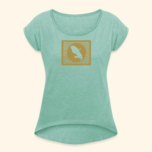MARTINIQUE SHINING - T-shirt à manches retroussées Femme