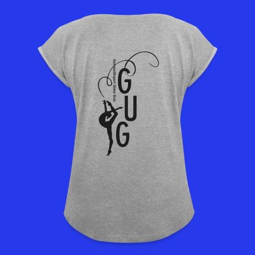 Damen - T-Shirt gerollte Ärmel - Boyfriendstil - Frauen T-Shirt mit gerollten Ärmeln