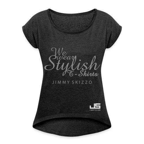 JS - Streetstyle Collection - Frauen T-Shirt mit gerollten Ärmeln