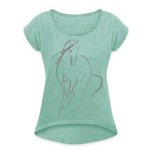 Caballo Clasico Shirt - Frauen T-Shirt mit gerollten Ärmeln