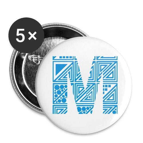 Meekyz-- badger grand bleu  - Badge grand 56 mm
