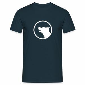 Wolf Silhouette - Männer T-Shirt