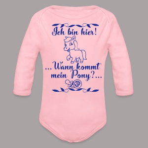 Ich bin hier ... - Baby Bio-Langarm-Body