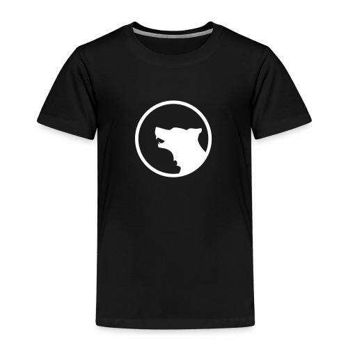 Wolf Silhouette - Kinder Premium T-Shirt
