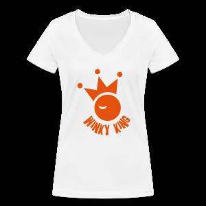 Winky King Premium Zakloopshirt - Vrouwen bio T-shirt met V-hals van Stanley & Stella