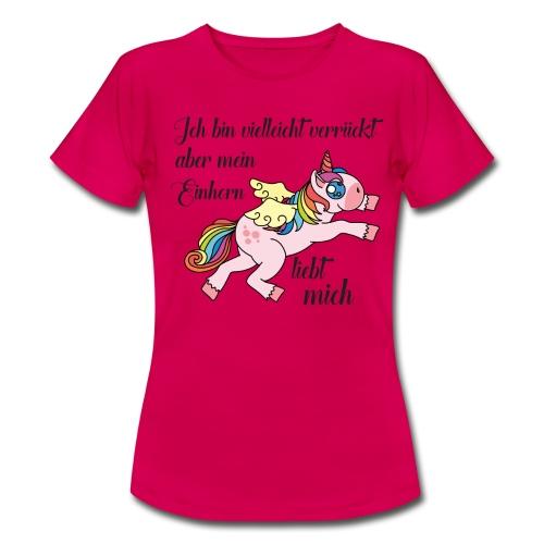 pinkes T-Shirt für Einhorn-Fans - Frauen T-Shirt