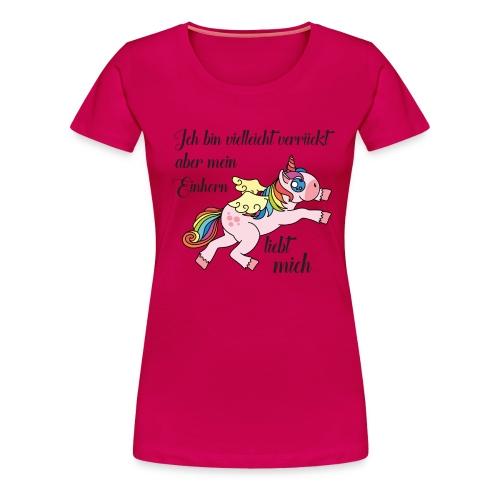 pinkes T-Shirt für Einhorn-Fans - Frauen Premium T-Shirt