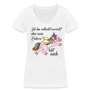 Shirt für Einhorn-Verrückte - Frauen Bio-T-Shirt mit V-Ausschnitt von Stanley & Stella