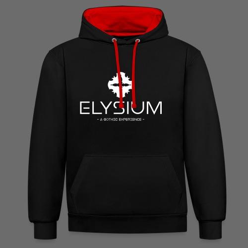 Elysium Kontrast-Kapuzenpullover - Kontrast-Hoodie