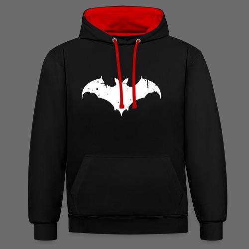 Bat Kontrast-Kapuzenpullover - Kontrast-Hoodie