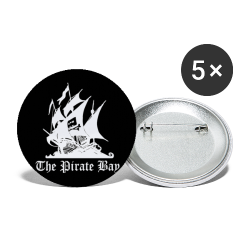 Pins 5-pack 56mm, TPB The Pirate Bay - Stora knappar 56 mm (5-pack)