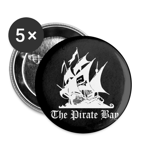 Pins 5-pack 56mm, TPB The Pirate Bay - Stora knappar 56 mm