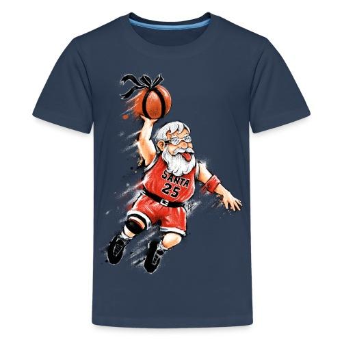 Santa Dunk - Teenage Premium T-Shirt