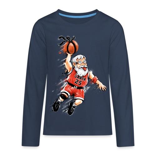 Santa Dunk - Teenagers' Premium Longsleeve Shirt