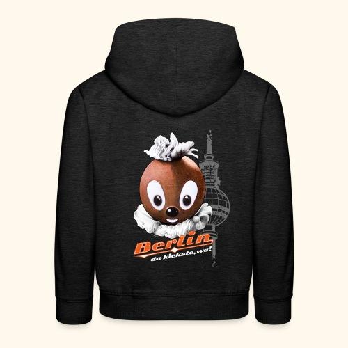 Kinder Premium Hoodie Pittiplatsch Berlin dk - Kinder Premium Hoodie