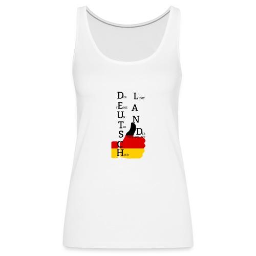 """Frauen Premium Tank Top """"Flagge mit Daumen"""" Deutschland Europameister 2016 Weiß - Frauen Premium Tank Top"""