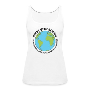 Start Geocaching - Women's Premium Tank Top