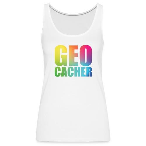 Geocacher Woman - Naisten premium hihaton toppi