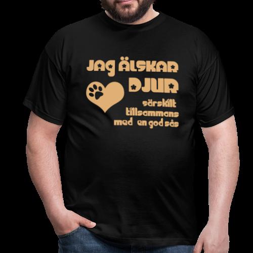 T-shirt, Jag Älskar Djur... - T-shirt herr