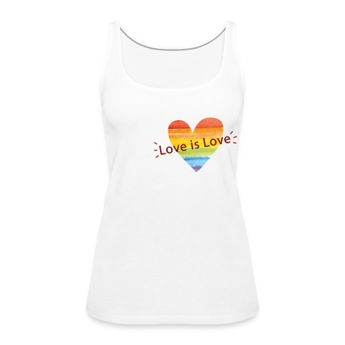 'Love is Love' Women's Tank Top - Women's Premium Tank Top